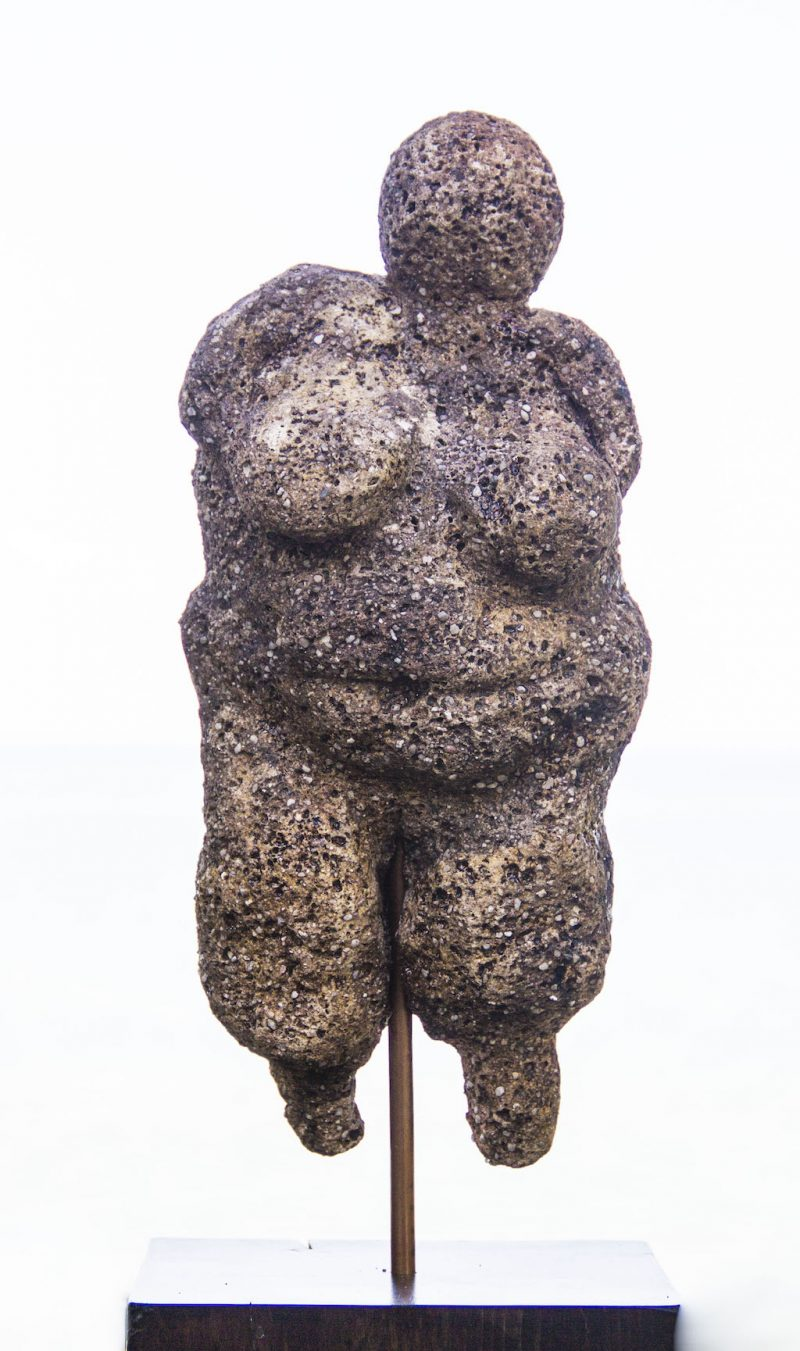 voluptuous woman sculpture closeup