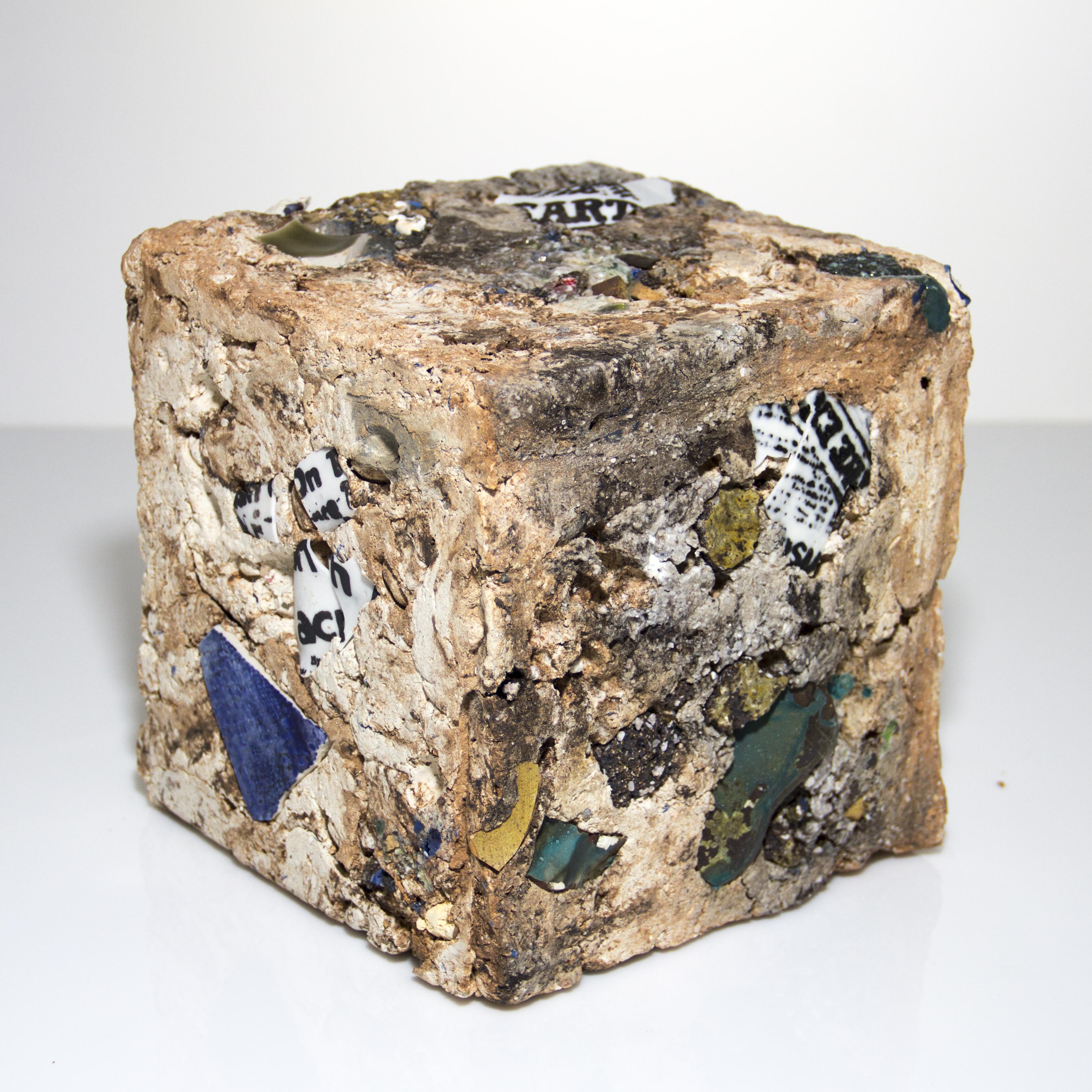 cubic ceramic sculpture