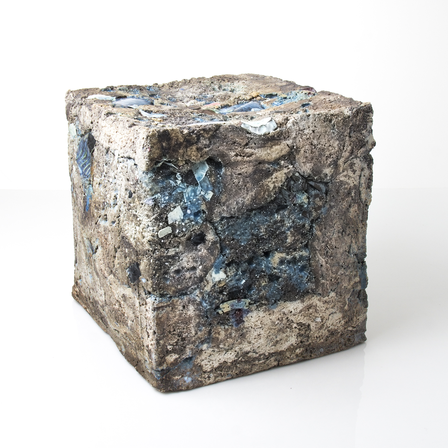 ceramic cube with shards