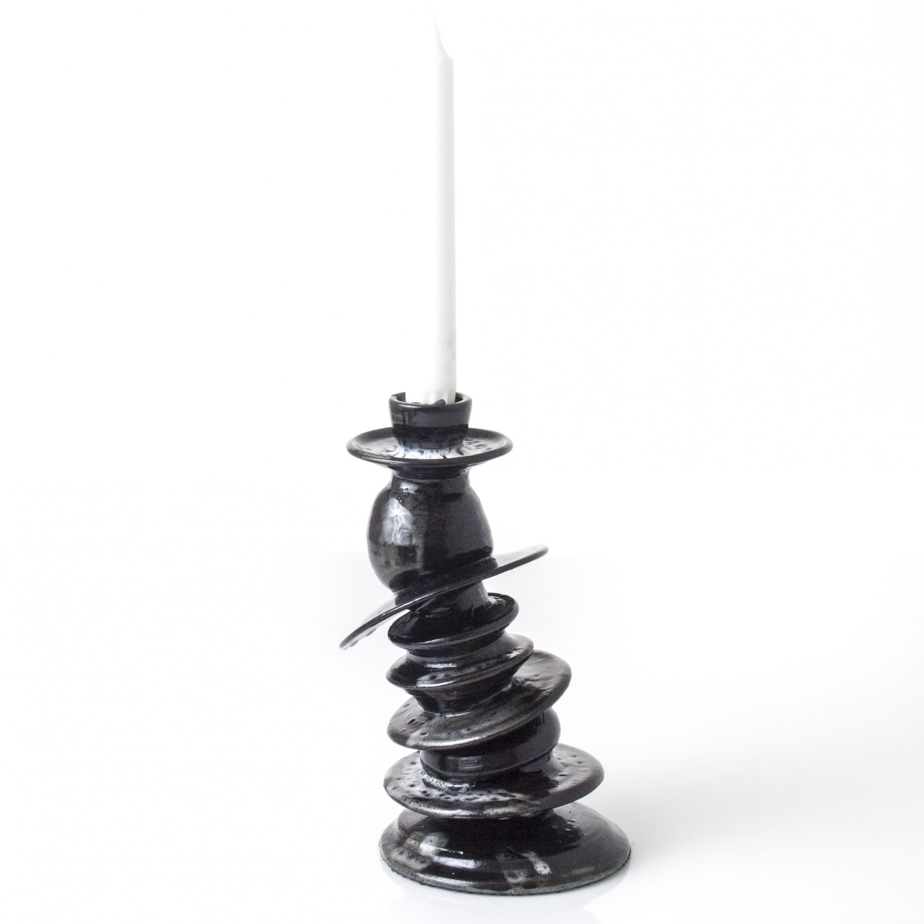funky ceramic candle holder